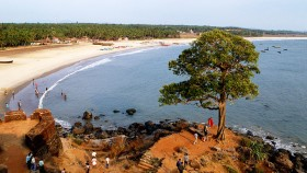 Panoramic view of bekal beach