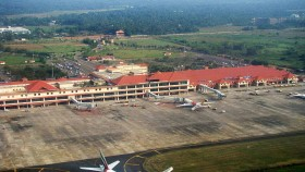 Cochin airport aerial view
