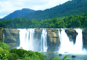 athirapally vazhachal waterfalls