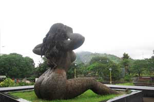 Sculpture of Yakshi in Malampuzha